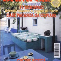 BRAVA CASA - REVISTA DE CASA SI DECORATIUNI IN LIMBA ITALIANA NR 8 DIN AUGUST 1998 - Revista casa