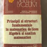 """""""PRINCIPII SI STRUCTURI FUNDAMENTALE IN MATEMATICA DE LICEU - ALGEBRA SI ANALIZA MATEMATICA"""", R. Trandafir / A. Leonte, 1982. Carte noua - Culegere Matematica"""