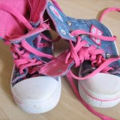 Adidasi fetite blugi - Adidasi copii, Marime: 15, Culoare: Roz, Fete