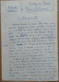 Manuscris al scriitorului Mircea Santimbreanu , 2