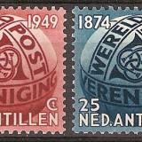 Antilele Olandeze, 75 ani UPU, 1949, MNH