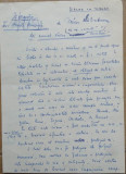 Manuscris al scriitorului Mircea Santimbreanu , 1