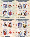 CINDERELA [VIGNETE] SOCIETATE NATIONALA DE CRUCE ROSIE 4 COLITE NED.