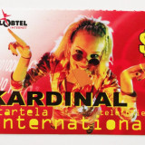CARTELA ROMANIA KARDINAL GLOBTEL 3 $ - DE COLECTIE **