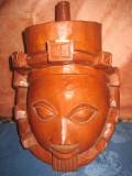 Masca AFRICANA din trunchi de lemn masiv