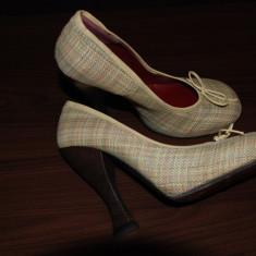 Pantof dama Vivienne Westwood, Culoare: Multicolor, Marime: 39, Multicolor, Cu toc