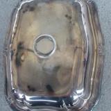 Salatiera veche din metal argintat in stil Rococo - Metal/Fonta