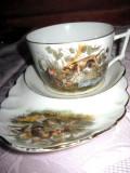 Set ceai biscuiti Gedace Limoges France.