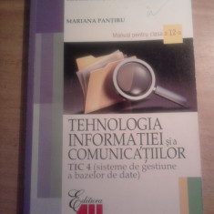 Manual TIC a XII-a - Manual scolar all, Clasa 12, All
