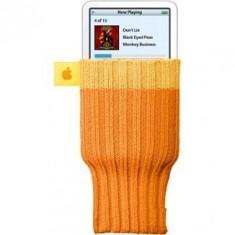 Apple Socks ciorapel husa Apple iPod Nano Classic Touch iPhone 5 5G 4 4S 4G 3GS 3G 2G Orange - Husa Telefon Apple, iPhone 4/4S