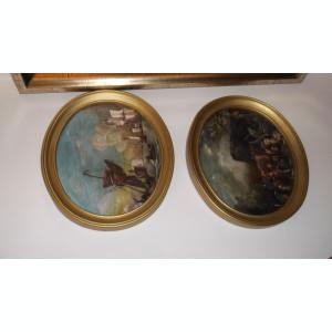 Reproducere pictura flamanda ulei pe carton