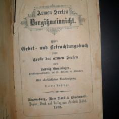 Carte veche religioasa in limba germana, 1883 - Carte in germana