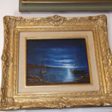 Ulei pe panza - Pictor roman, Marine