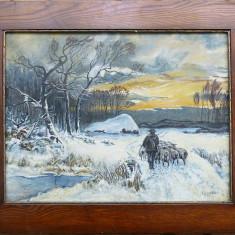 Peisaj de iarna - semnat I. Danilescu