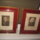 Gravuri pereche vechi Wagner si Liszt - Pictor roman, Portrete, Carbune, Realism
