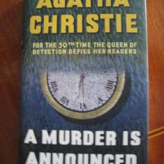 Agatha CHRISTIE - A MURDER IS ANNOUNCED (2005, Londra, in engleza, CA NOUA!)