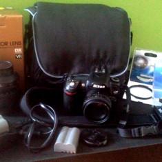 Kit NIKON D80 + Nikon 18-105mm f/3.5-5.6G AFs VR DX + Nikon AF 50mm f/1.8D - DSLR Nikon, Kit (cu obiectiv), 10 Mpx, HD