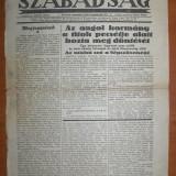 Pagina ziar Szabadsag - Oradea 1935, Romania 1900 - 1950, Documente