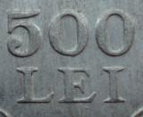 500 lei 1946 luciu de batere - Eroare batere URIASA - dubla batere la 500 + LEI