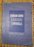 Bruno Galilei Campanella TEXTE ALESE Ed. de stat pt. lit. st. si didactica 1951
