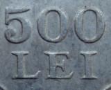 500 lei 1946 luciu de batere - EROARE de batere - dubla batere la 500   LEI