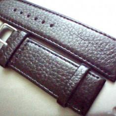 Curea ceas piele neagra de 26mm, 28mm, 30mm, 32mm, latime.