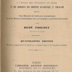 Rene Foignet - Manuel elementaire de Droit International Public - 1929 - Carte Drept international