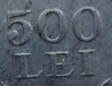 500 lei 1946 eroare batere - dubla batere 500 + LEI