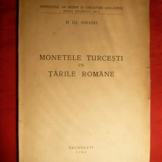 H.Dj.Siruni -Monetele Turcesti in Tarile Romane - Ed. I -1944