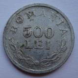 500 lei 1946 eroare batere - cifra 5 plina + dubla batere muchie + depuneri material