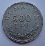 500 lei 1946 eroare batere - cifra 5 plina   dubla batere muchie