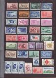 USA 1954 - 1966 - Colectie serii nestampilate MNH, Nestampilat