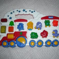 Chicco - Trenuletul Animalelor - jucarie muzicala cu lumini si sunete - Joc board game