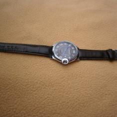 Vand Ceas Barbati CARTIER QUARTZ Replica - Ceas barbatesc Cartier, Elegant, Inox, Piele ecologica, Data