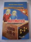 MATEMATICA CLASA A VI A , EXERCITII SI PROBLEME .CARTEA ESTE NOUA .