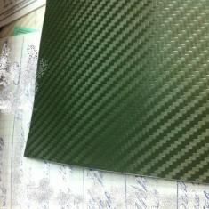 Folie carbon 3d latime 152cm de culoare verde inchis fara bule - Folii Auto tuning