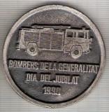 C36 Medalie -Pompieri(Bomber)-1990-Spania -marime circa 52 mm -greutate aprox. 49 gr-starea care se vede, Europa