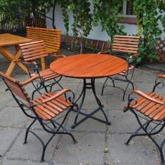Masa plus 4 scaune pentru terasa si gradina - Masa gradina