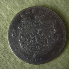5 lei 1881 Carol Domnul - Moneda Romania