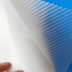 folie carbon 3d  de culoare transparenta de 60cn