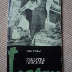 Paul everac teatru Ferestre deschise carte arta cultura ilustrata