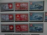Cumpara ieftin Elvetia 3 serii stampilate 1939 cota 30 euro Expozitie nationala Zurich, Stampilat