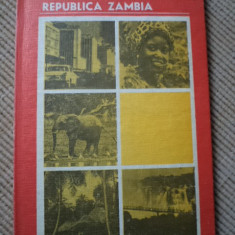 REPUBLICA ZAMBIA oleg nedelcu carte geografie africa hobby ilustrata foto