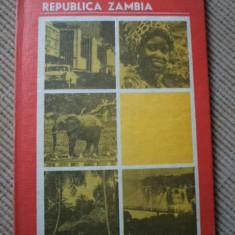 REPUBLICA ZAMBIA oleg nedelcu carte geografie hobby ilustrata foto