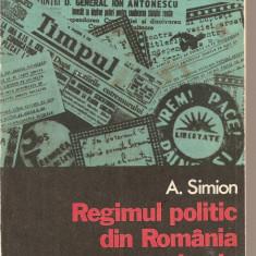 (C2073) REGIMUL POLITIC DIN ROMANIA IN PERIOADA SEPT. 1940 - IAN. 1941, DE A. SIMION, EDITURA DACIA, CLUJ - NAPOCA, 1976 - Carte Politica