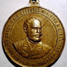 C.440 TRANSILVANIA MEDALIE GABOR BAROSS EXPOZITIE TIMISOARA TEMESVAR 1891 - Medalii Romania
