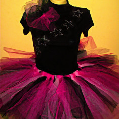 Rochie Rock'n'Roll - Costum carnaval, Marime: S/M, Culoare: Roz, S/M, Roz