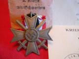 Crucea de Merit pentru Razboi cls II( K.V.K. 2 Klasse mit  SCHWERTERN 110)