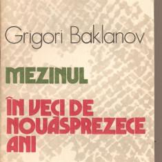 (C2137) MEZINUL * IN VECI DE NOUASPREZECE ANI DE GRIGORI BAKLANOV. EDITURA UNIVERS, BUCURESTI, 1986