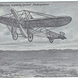 3.RARITATE, aviatie, avion, zborul din 1909 al lui Bleriot la Budapesta - Carte postala tematica